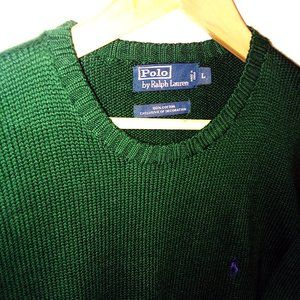 Polo by Ralph Lauren Pullover Sweater Green Sz L